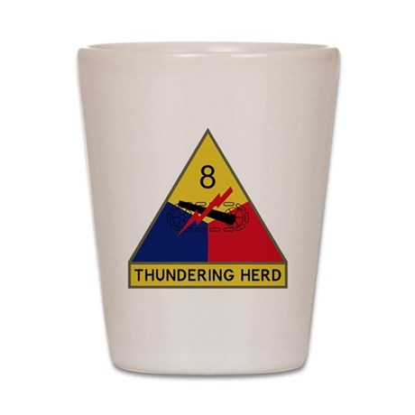 8th Armored Division - Thundering Herd Shot Glass