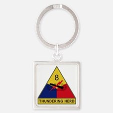 8th Armored Division - Thundering  Square Keychain