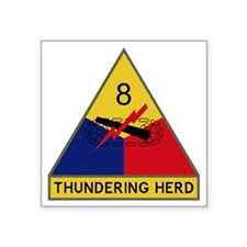 "8th Armored Division - Thun Square Sticker 3"" x 3"""