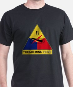 8th Armored Division - Thundering Her T-Shirt