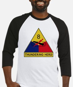 8th Armored Division - Thundering  Baseball Jersey