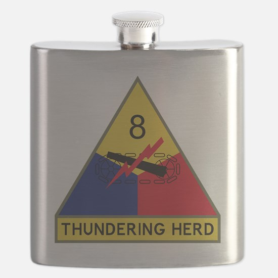8th Armored Division - Thundering Herd Flask