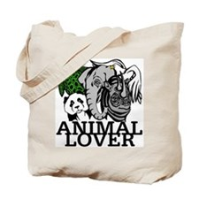 Animal Lover Collage Tote Bag