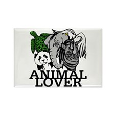 Animal Lover Collage Rectangle Magnet