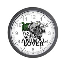 Animal Lover Collage Wall Clock