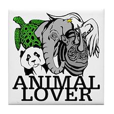 Animal Lover Collage Tile Coaster