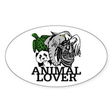 Animal Lover Collage Oval Decal