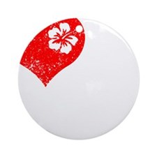 Love 2 Ukulele Round Ornament