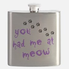 you had me at meow Flask