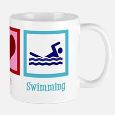 peaceloveswimmingwh Mug