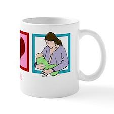 peacelovebreastfeedingwh Mug