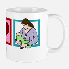 peacelovebreastfeedingwh Mug