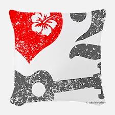Love 2 Ukulele Woven Throw Pillow