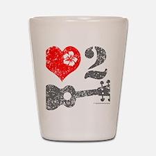 Love 2 Ukulele Shot Glass