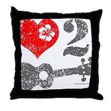 Love 2 Ukulele Throw Pillow