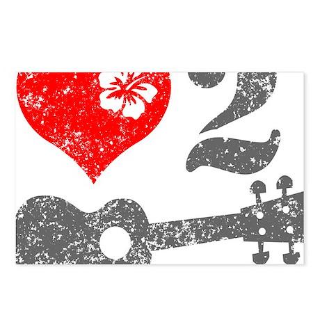 Love 2 Ukulele Postcards (Package of 8)