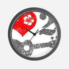 Love 2 Ukulele Wall Clock
