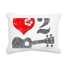 Love 2 Ukulele Rectangular Canvas Pillow