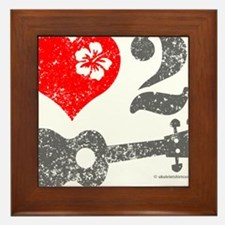 Love 2 Ukulele Framed Tile