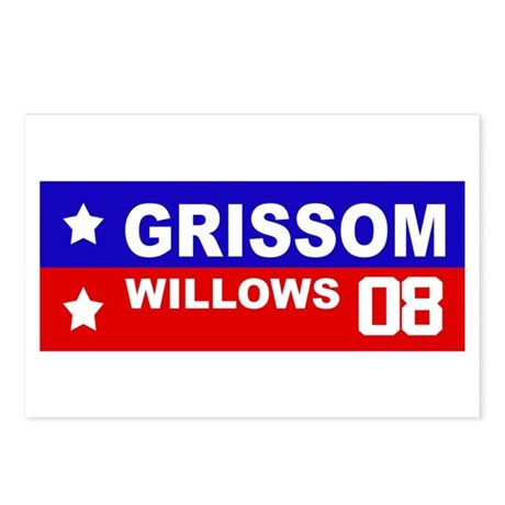 GRISSOM / WILLOWS 2008 Postcards (Package of 8)