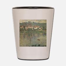 Vetheuil, by Claude Monet Shot Glass