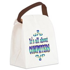 COMPUTERS Canvas Lunch Bag