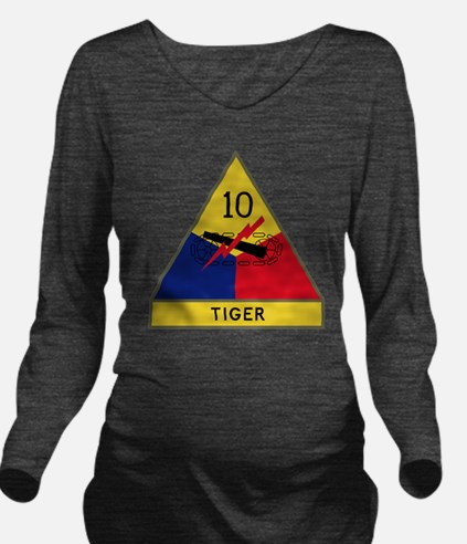 10th Armored Divisio Long Sleeve Maternity T-Shirt