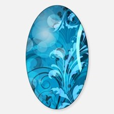 Blue Abstract Floral (4G clear) Decal