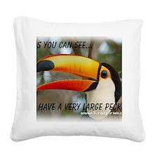 Big Pecker Square Canvas Pillow