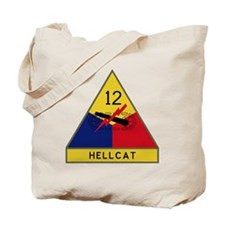 12th Armored Division - Hellcat Tote Bag
