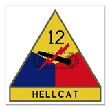 43rd infantry Square Car Magnets