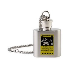 Warning_0111_11x17 Flask Necklace