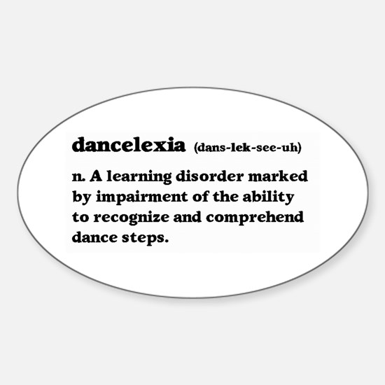 Dancelexia Sticker (Oval)