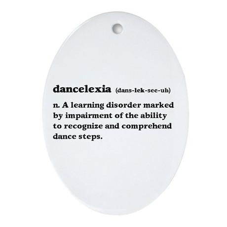 Dancelexia Ornament (Oval)