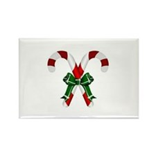 Christmas Candy Cane With Bows Magnets