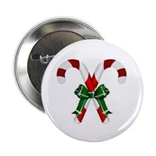 Christmas Candy Cane With Bows 2.25&Quot; Button