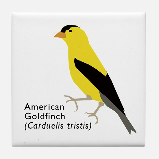 american goldfinch Tile Coaster