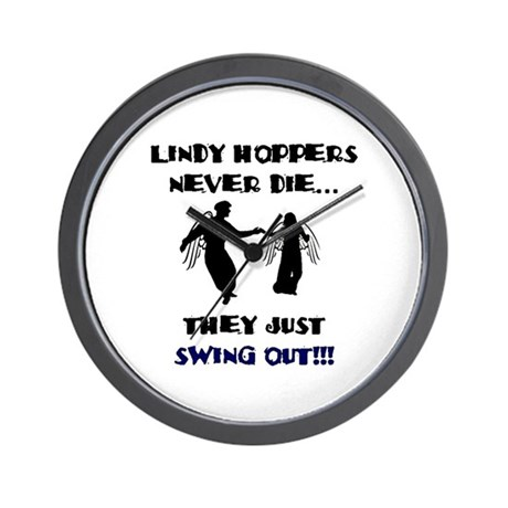 Lindy Hoppers Never Die Wall Clock