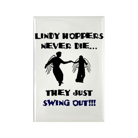 Lindy Hoppers Never Die Rectangle Magnet