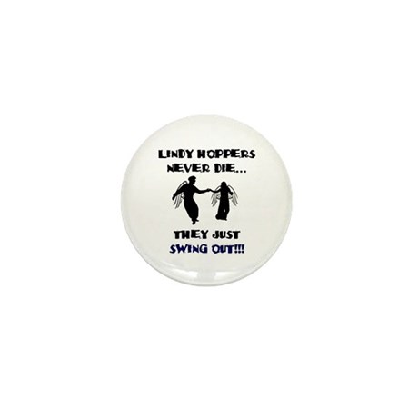 Lindy Hoppers Never Die Mini Button (100 pack)
