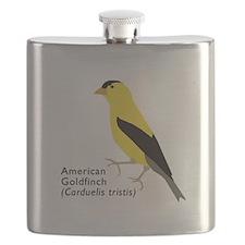 american goldfinch Flask