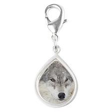 ms  Wolf Silver Teardrop Charm
