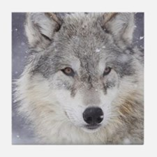 ms  Wolf Tile Coaster