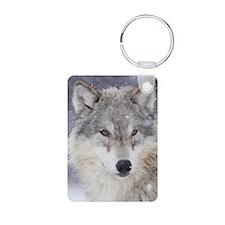 ms  Wolf Aluminum Photo Keychain