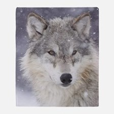 ms  Wolf Throw Blanket