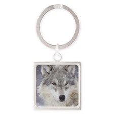 ms  Wolf Square Keychain