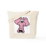 Pink Elephant Cartoon Tote Bag
