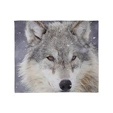 x10  Wolf Throw Blanket