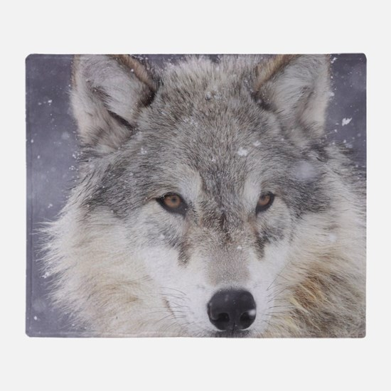 x10  Wolf Throw Blanket