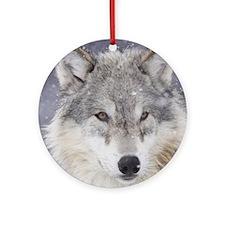 x10  Wolf Round Ornament